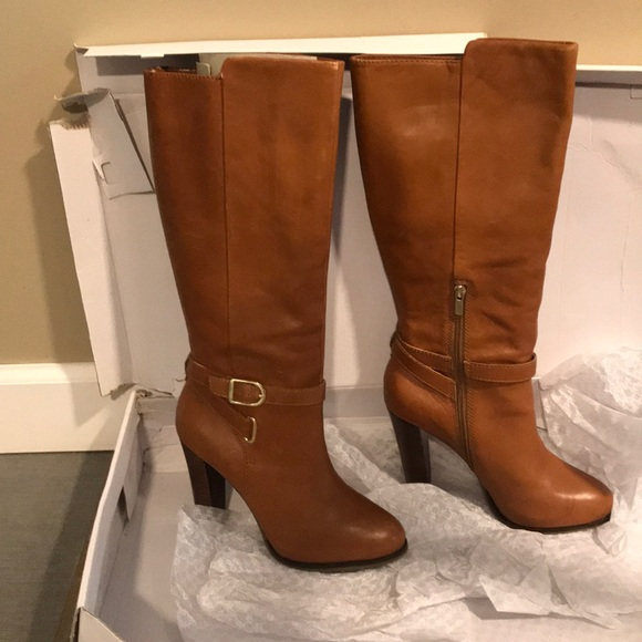 6686b6a8065 Leather tall boots